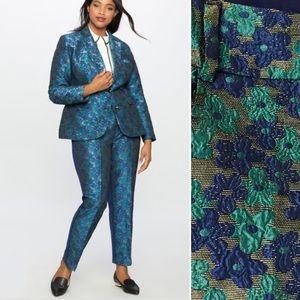Eloquii Kady Fit Floral Brocade Front Pants Sz 16